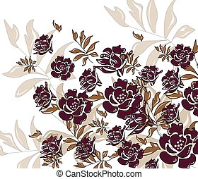 Abstract roses composition