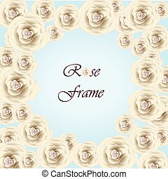 Beautiful Photo Frame with cream roses