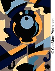 Modern Abstract Composition