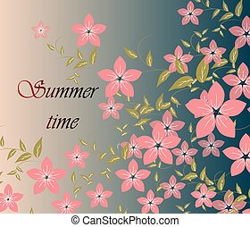 Spring Summer background with flowers