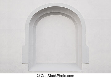 wall with alcove background - exterior wall with empty...