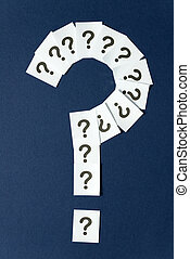 Question mark - Big question mark formed by many question...