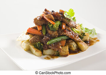Beef Stir Fry with potatoes