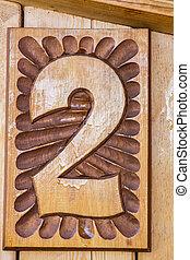 carved wood work numbers 2