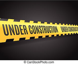 Under Construction Line with Text. Vector - Under...
