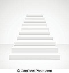White Staircase Blank. Vector
