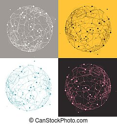 Abstract Trandy Sphere. Vector