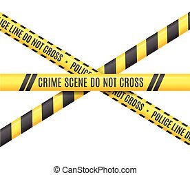 Police Line. Scene Crime Do Not Cross. Vector illustration