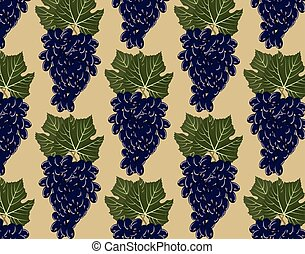 Red grapes clusters pattern