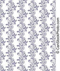 Classic royal ornament acanthus flower pattern background....