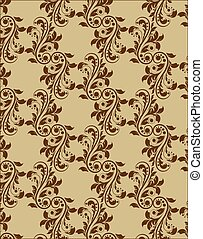 Classic royal ornament acanthus flower pattern background...