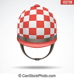 Classic Jockey helmet - Classic Red Checkered Jockey helmet...