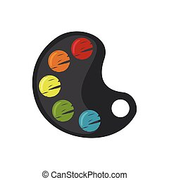 Colorful Palette icon in flat style. - Colorful Palette icon...