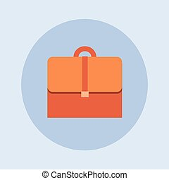 Briefcase Icon Business Case Flat Design Vector Illustration