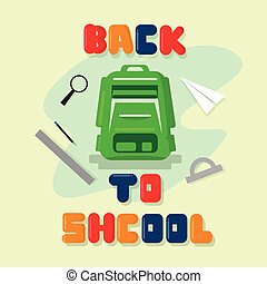 Backpack Back To School Education Banner