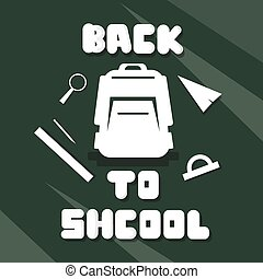 Backpack Back To School Education Banner Flat Vector...