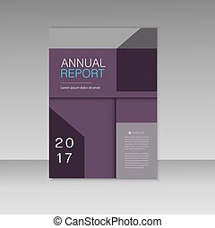 Annual report business brochure template. Cover book presentation in abstract design