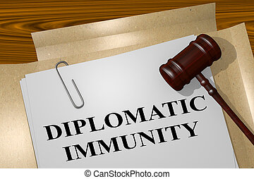 Diplomatic Immunity - legal concept - 3D illustration of...