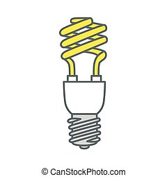 Energy saving light bulb. Vector.