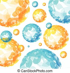 Abstract Sphere Background. Vector