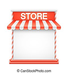 Store Front with Red Awning - Store front with red awning....