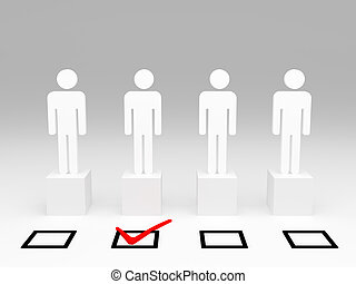 be select  - white man model 3d and check selection box