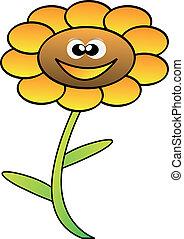 happy vector flower