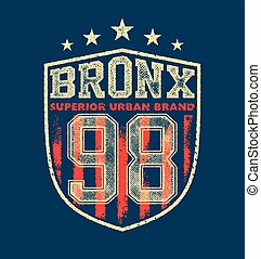 vintage bronx typography, t-shirt graphics, vectors...
