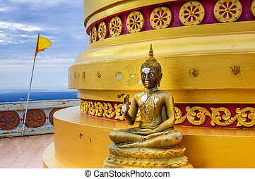 Buddha statue at hilltop temple