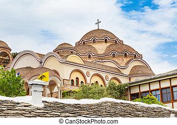 Monastery of Archangel Michael, Thassos island, Greece -...