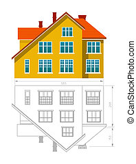 House icon and drawing