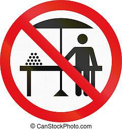 använd, land,  -, underteckna, förbjuden, afrikansk,  hawkers,  Botswana, väg