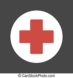 First Aid Medical Sign Icon. Vector