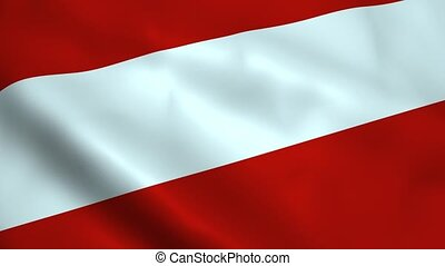 Realistic Austria flag waving in the wind. Seamless looping.