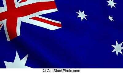 Realistic Australia flag waving in the wind. Seamless...