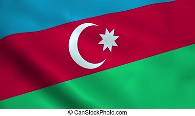 Realistic Azerbaijan flag waving in the wind. Seamless...