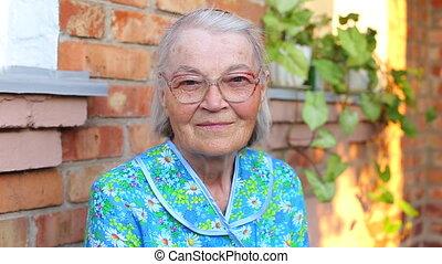 Elderly older female portrait