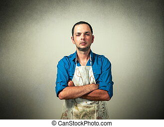 man portrait with the chef uniform