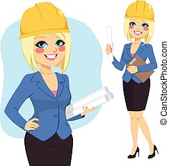 Blonde Architect Woman - Blonde architect woman character...