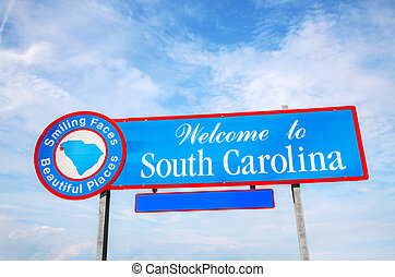 Welcome to South Carolina sign at he state border