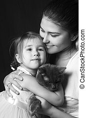 Portrait of a couple - Portrait of beautiful mother and...