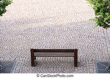 Garden bench - Seating area in a marketplace