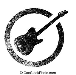 Electric Guitar Ink Stamp - The standard rock and roll...