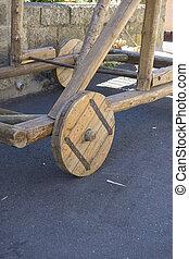 wheel wooden utensil medieval siege castles
