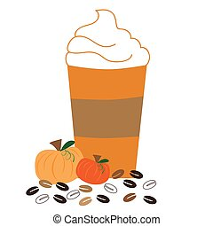 Pumpkin Coffee with Whipped Cream