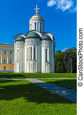 Cathedral of Saint Demetrius XII c in Vladimir, Russia -...