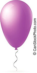 Abstract creative concept vector flight balloon with ribbon....