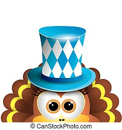 Funny turkey Oktoberfest Card Design Template Vector...
