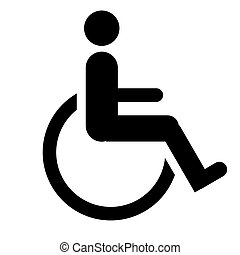 Disabled sign, isolated on a white background