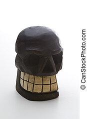 Dia de los muertos wood skull - Mexican Dia de los muertos...